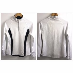 AVIA 1/2 Zip L/S  Pullover Shirt Small White